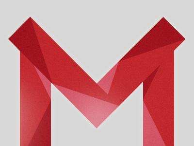 M m red initial letter logo idea signet