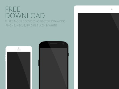 Flat mobile devices - free download flat mobile iphone galaxy nexus ipad vector device eps download free freebie