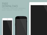 Flat mobile devices - free download