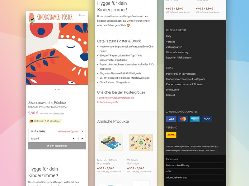 Poster Onlineshop / Responsive view kids mobile website flat frontpage responsive shop posters onlinestore onlineshop wordpress woocommerce