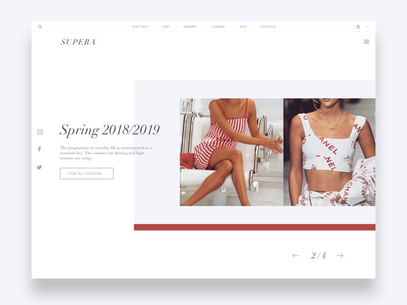 Fashion Homepage Banner designer design clean style minimal slider homepage banner fashion