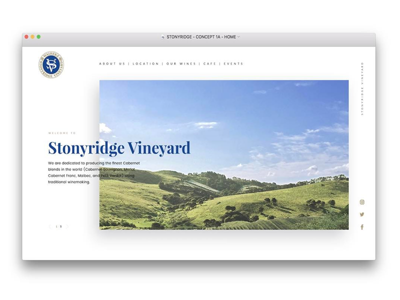 Vineyard Homepage Banner ui wine winery vineyard slider banner homepage