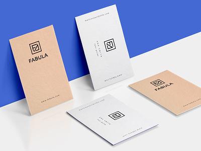 Fabula2 business cards logo identity branding