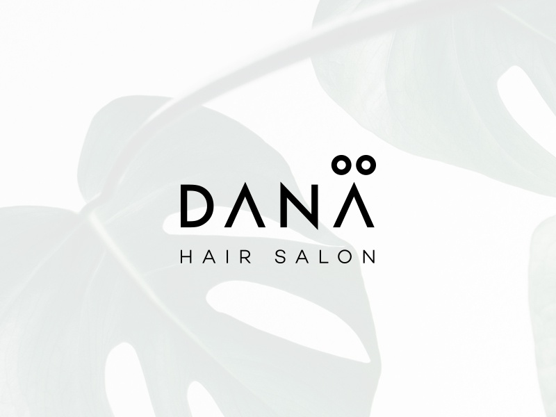 Dana visual identity hair salon design identity branding logo
