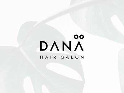 Dana visual identity hair salon design identity branding logo