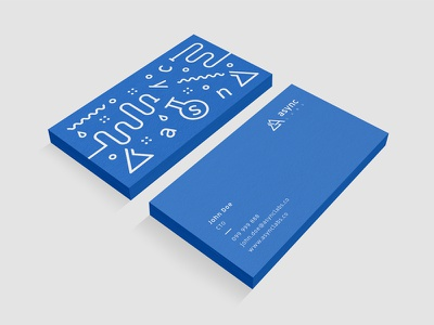 Async Labs Business Cards design identity branding logo business cards