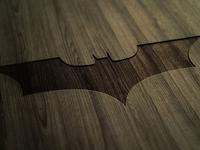 Just the batman logo on wood