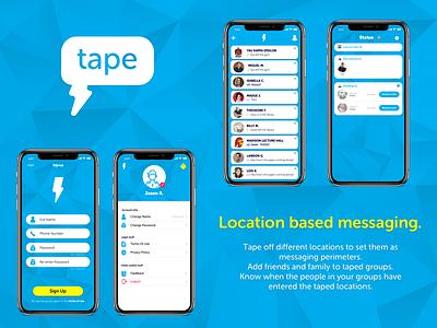 Messaging App design app ui ios mobile ux