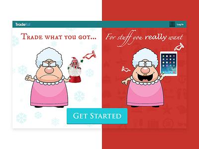 Christmas Promo illustration ios design app ui ux