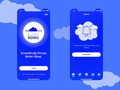 Sleep Sonic Playing Around app design design mobile ios ui desgin ux ux design