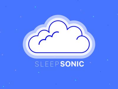 Sleep Sonic Logo Play 1 ui design simple branding vector illustration logo