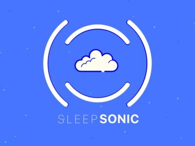 Sleep Sonic Logo Play 3 ux design mobile app simple branding vector illustration logo