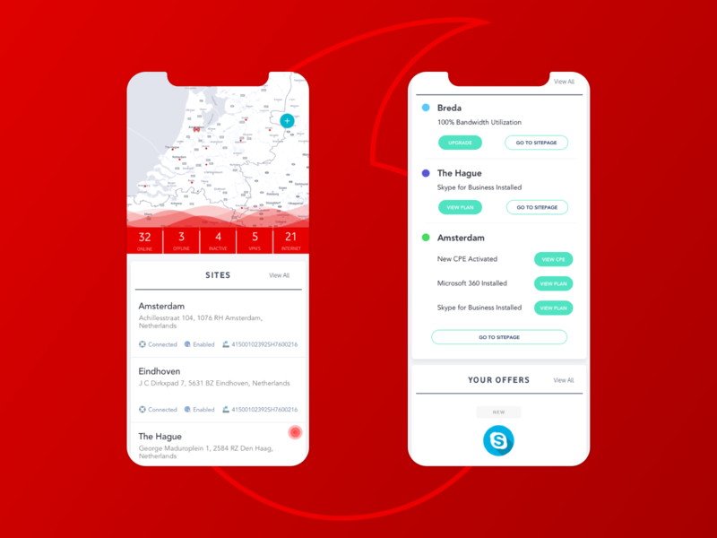 Vodafone Ziggo ios app mobile ui design ux