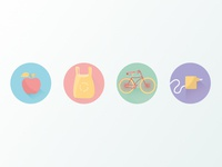 Icons for Eco challenge app