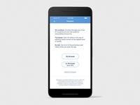 UX/UI design premium screen