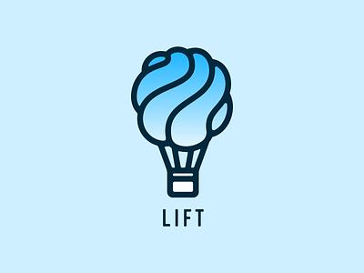 LIFT Logo minimal icon vector branding logo