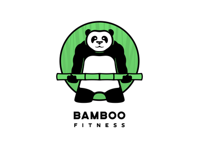 Bamboo Fitness Logo illustration vector icon branding logo