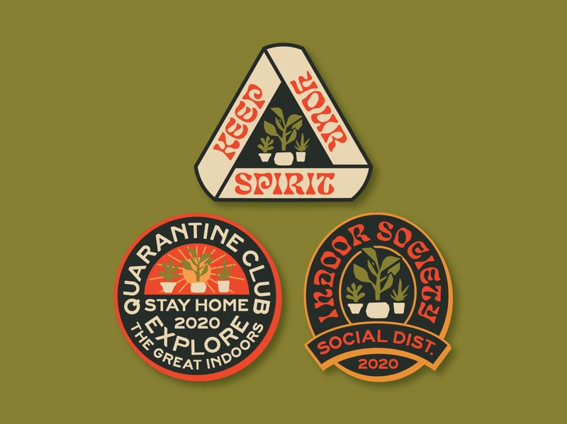 Indoor Badge Sticker Set