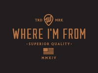 Where Im From Apparel - Wordmark