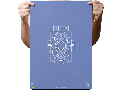 INSTAGRANDMA - POSTER instagram poster frame photographic device picture camera smile video print