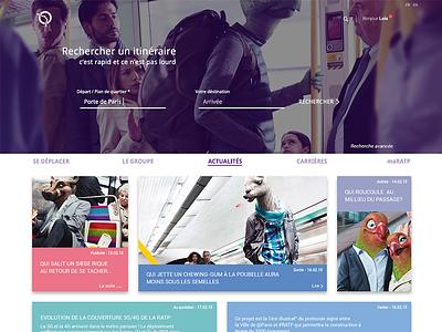 RATP - STUDY CASE paris material website web design study case underground metro ratp