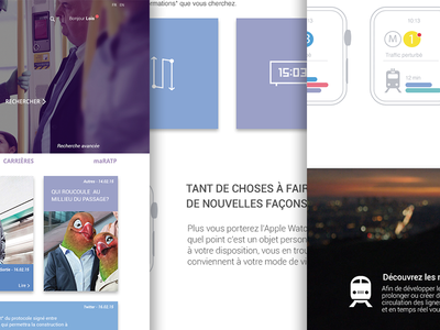 RATP - STUDY CASE design paris material website web design study case underground metro ratp