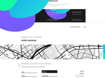NON.ME FREE MINIMAL WEBSITE website flat color free psd download clean application minimalist design