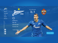 FC Zenit Saint-Petersburg website concept