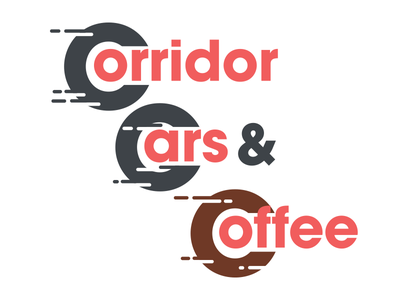 Corridor Cars & Coffee fast wheel concept branding logo corridor coffee cars cars and coffee