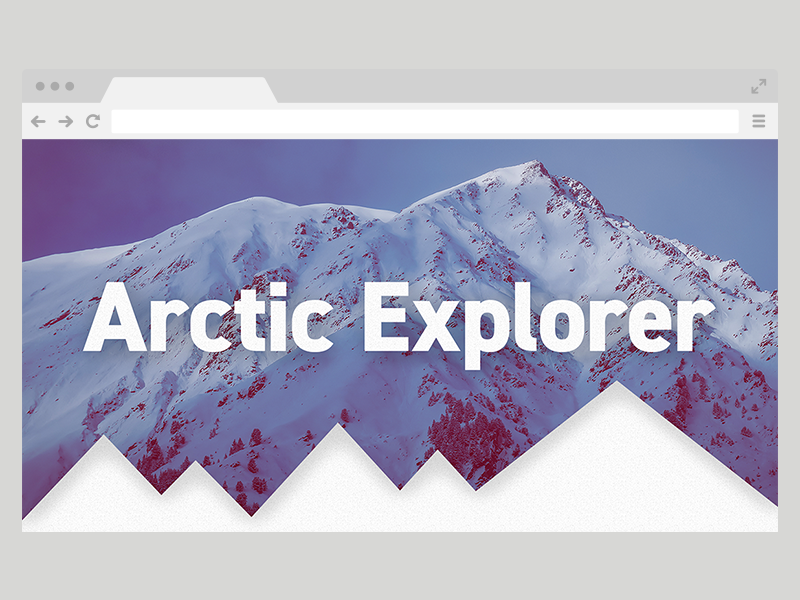 Arctic Explorer site eco winter snow mountain arctic explore one page layout web design