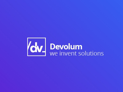 Devolum logo design