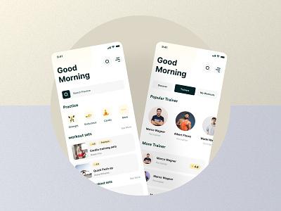 Dashboard || Fitness Training App Tracker dashboard training minimalist ios mobile app graphic design logo branding illustration design best app concept ux top popular ui