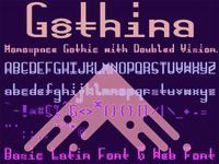 Gothina Font (& Web Font) Sample