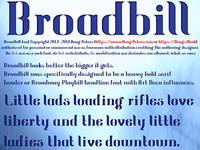 Broadbill Font Sampling