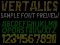 Vertalics Font Preview Sample