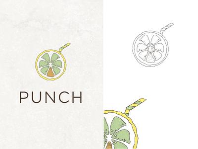 lemon cocktail catering look southren drinking drink palm cocktail lemon logo design