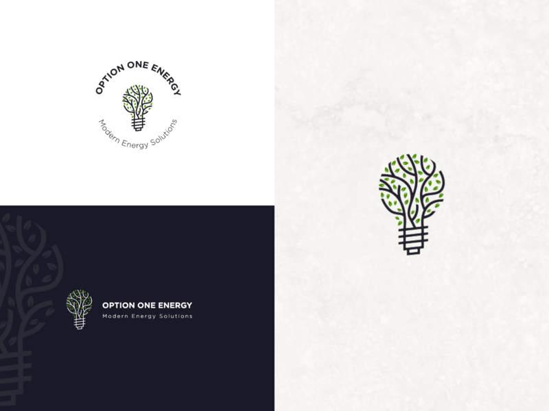 Modern Energy Solotions plant tree electric consulting save energy environment simple logo design solution modern lamp energy