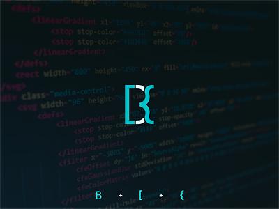 B consulting technology software development simple blue logo design
