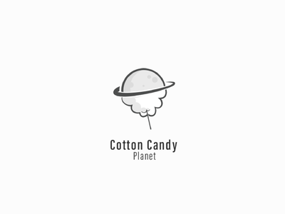 cotton candy sweet rotation planet candy cotton candy modern simple logo design