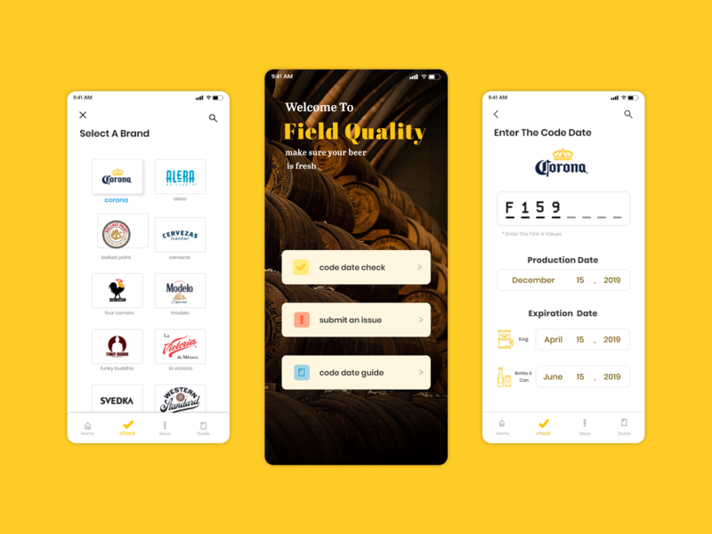field quality drink yellow beer quality app design app design ui