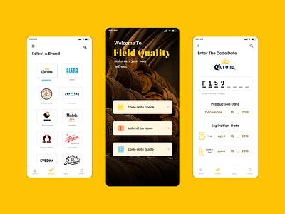 field quality drink yellow beer quality app design app design ui