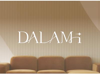 dalami logo design simple design elegant elegant font type custom font typography branding logotype font logo