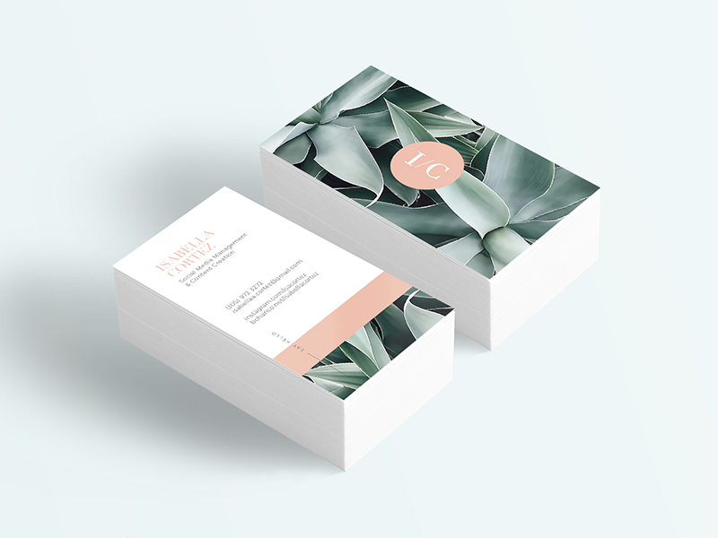 I/C - Business Card brand branding creative modern clean business card