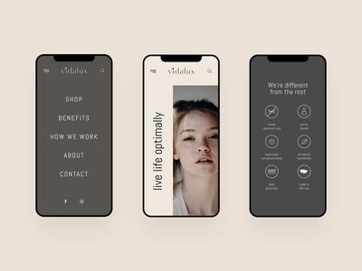 Vidalux - CBD Mobile Website