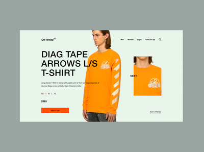 Off-White™ - Product Page Concept