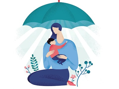 Mother and child mother shelter women