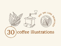 30 Coffee Illustrations