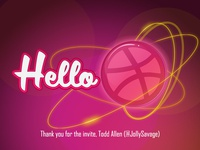 Debut Shot - Hello Dribbble