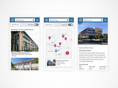 RM Property Listings Search App responsive commercial real estate real estate app real estate search app mobile ux ui