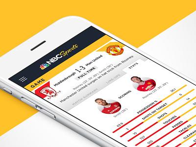 RUWT & NBC Sports App Pitch soccer football sports mobile app design mobile mobile app app ui ux